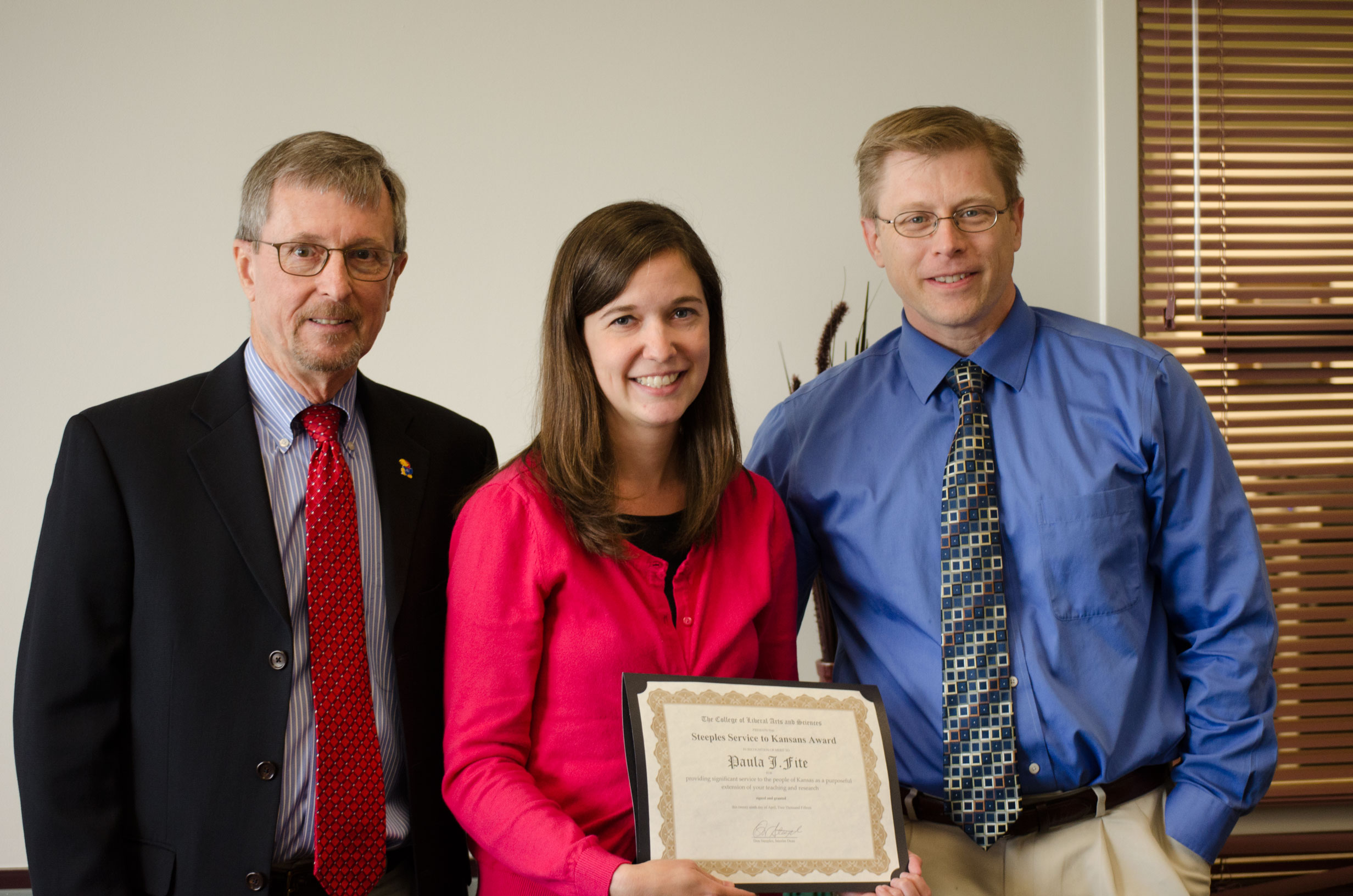 KU professor Paula Fite receives 2015 Steeples Award
