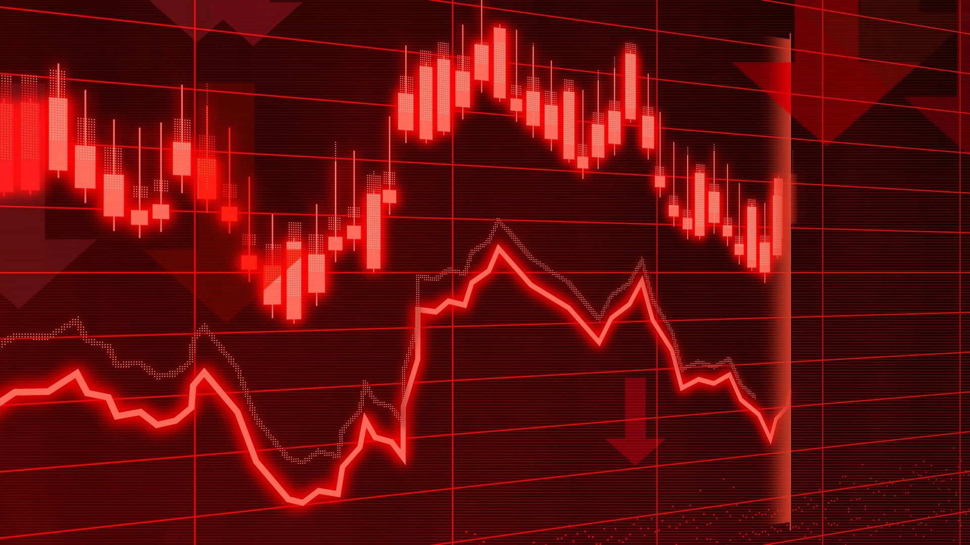Red stock market illustration