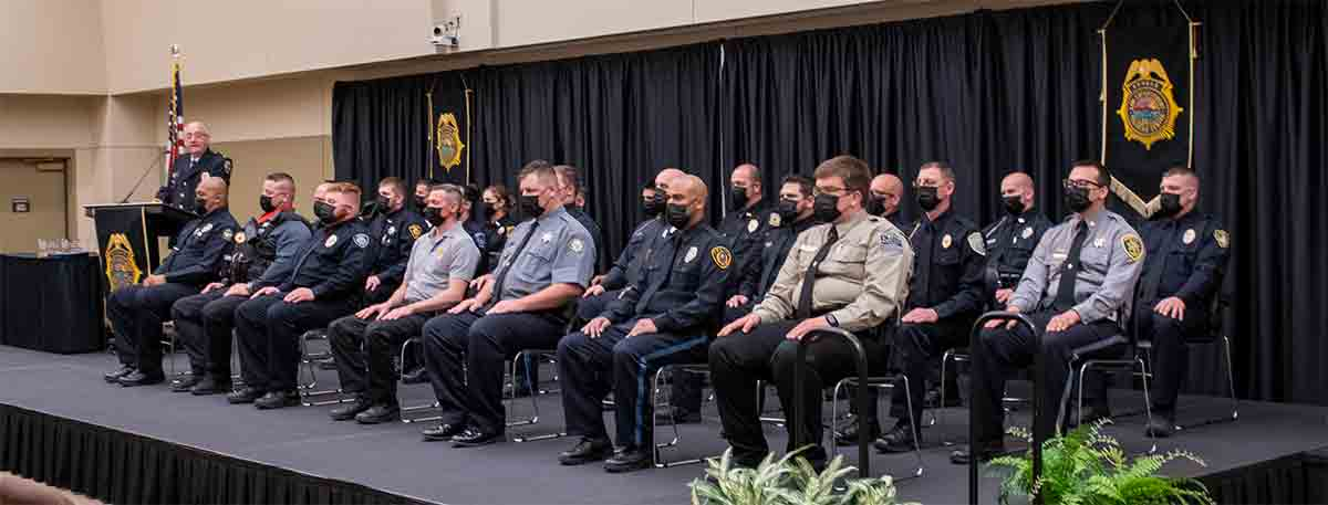 The 276th graduation class of the Kansas Law Enforcement Training Center.