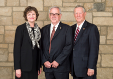 From left are Justice Carol Beier, Timothy Emert and John Vratil.