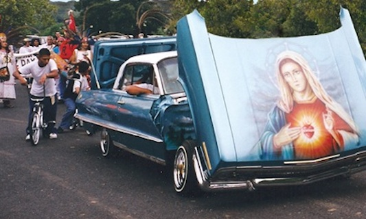 A lowrider from the cover of the book