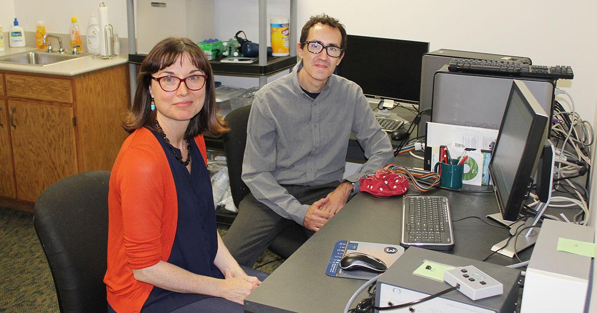 Alison Gabriele and Rob Fiorentino, KU linguistics