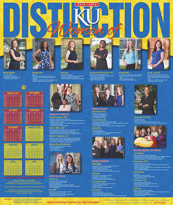 Women of Distinction Calendar 2015-2016